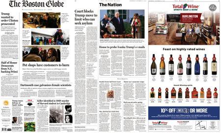 The Boston Globe – November 21, 2018
