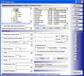 PS FileRenamer ver. 2.70