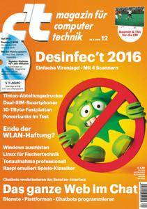 ct Magazin für Computertechnik No 12 vom 28. Mai 2016