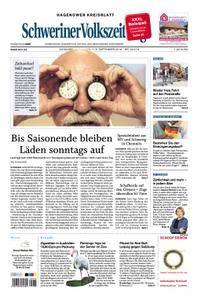 Schweriner Volkszeitung Hagenower Kreisblatt - 01. September 2018