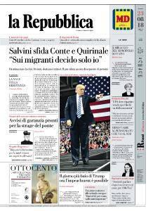 la Repubblica - 23 Agosto 2018