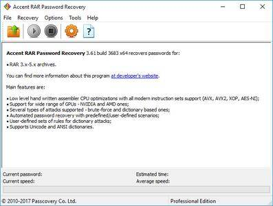 Accent RAR Password Recovery Professional 3.61 Build 3683 (x64) Multilingual