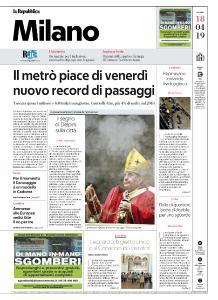 la Repubblica Milano - 18 Aprile 2019