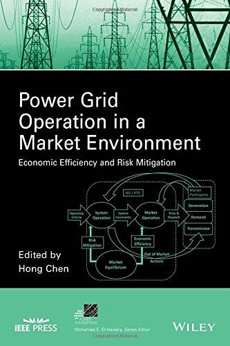 Power Grid Operation in a Market Environment: Economic Efficiency and Risk Mitigation