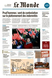 Le Monde du Mardi 2 Avril 2019
