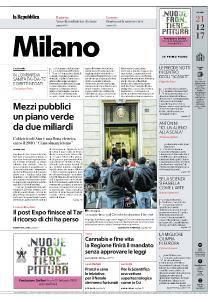 la Repubblica Milano - 21 Dicembre 2017