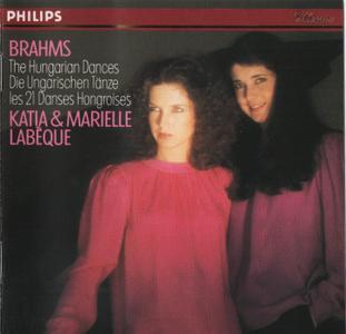 Katia & Marielle Labèque - Brahms: 21 Hungarian Dances for piano duet (1981)