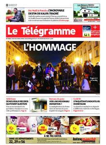 Le Télégramme Brest – 22 octobre 2020