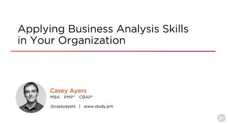 Applying Business Analysis Skills in Your Organization