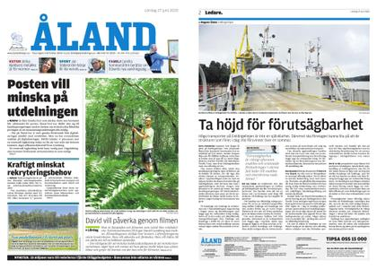 Ålandstidningen – 27 juni 2020