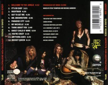 Guns N' Roses - Appetite For Destruction (1987) [MFSL, UDCD 699]