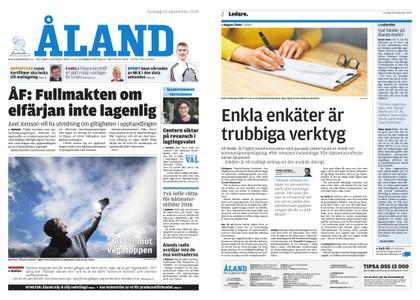 Ålandstidningen – 19 september 2019