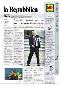 la Repubblica - 10 Luglio 2018
