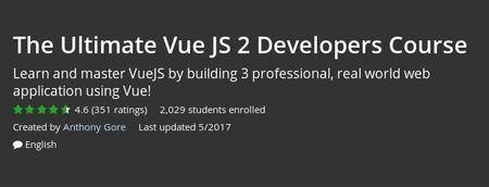 Udemy - The Ultimate Vue JS 2 Developers Course