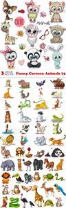 Vectors - Funny Cartoon Animals 75