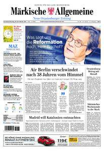 Neue Oranienburger Zeitung - 28. Oktober 2017