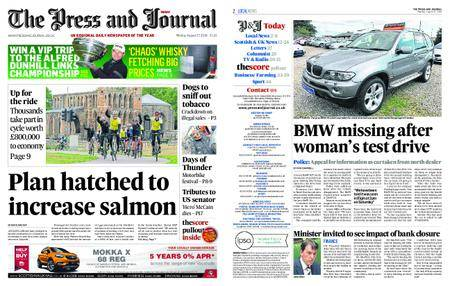 The Press and Journal Moray – August 27, 2018