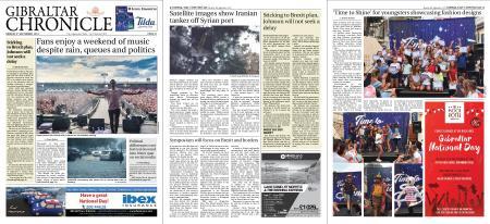 Gibraltar Chronicle – 09 September 2019