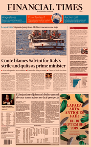 Financial Times Europe – 21 August 2019