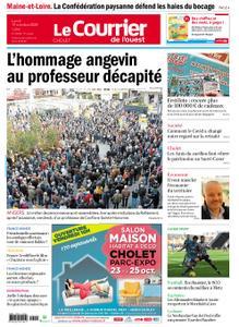 Le Courrier de l'Ouest Cholet – 19 octobre 2020