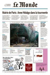 Le Monde du Mardi 18 Septembre 2018