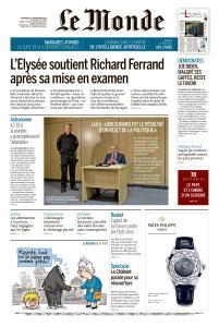 Le Monde du Vendredi 13 Septembre 2019