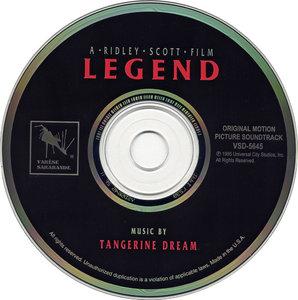 Tangerine Dream Legend 1986 Original Motion Picture