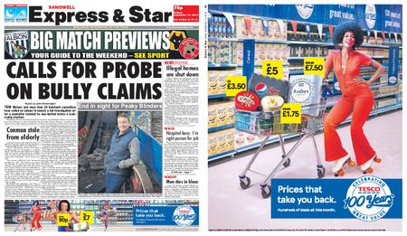 Express and Star Sandwell Edition – September 13, 2019