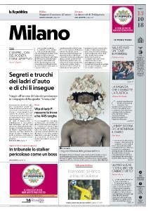 la Repubblica Milano - 13 Ottobre 2018