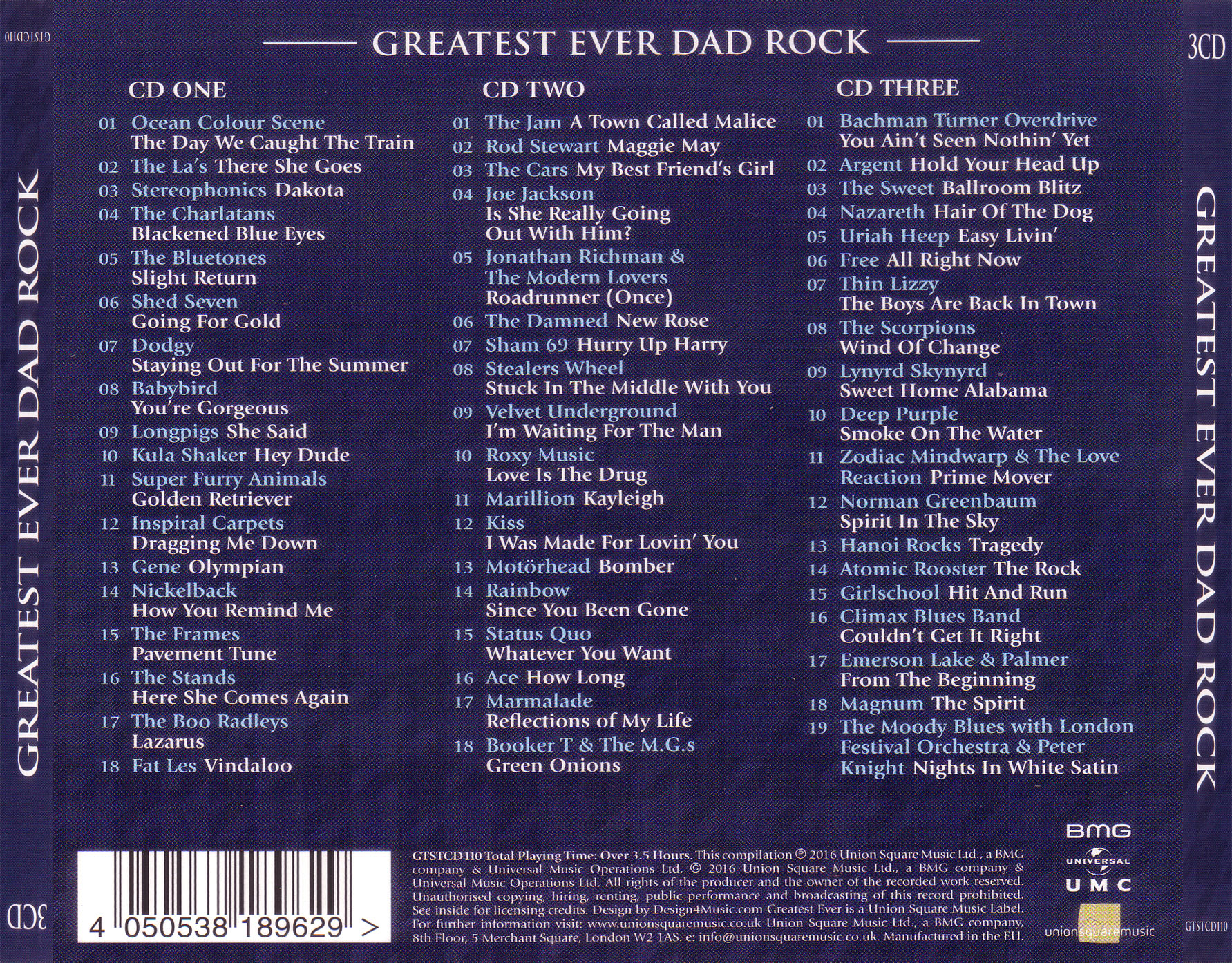 V A Greatest Ever Dad Rock The Definitive Collection