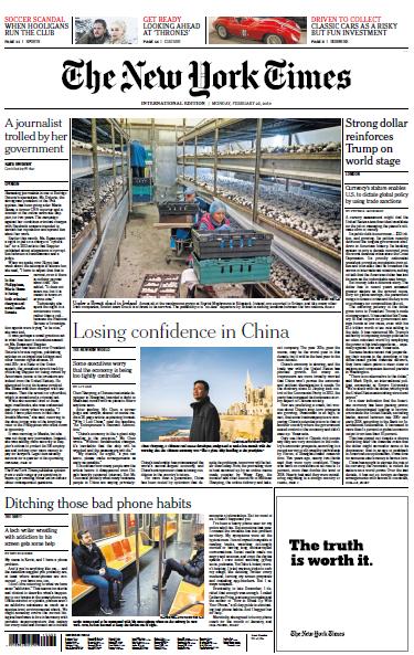 International New York Times - 25 February 2019