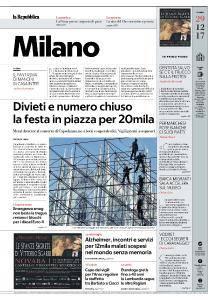 la Repubblica Milano - 29 Dicembre 2017