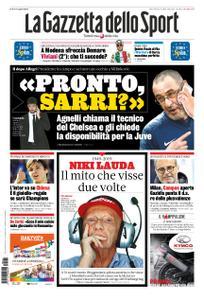 La Gazzetta dello Sport Roma – 22 maggio 2019