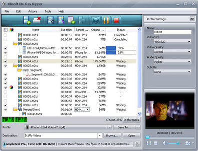 Xilisoft Blu Ray Ripper v5.2.3.1218 Portable Multilanguage
