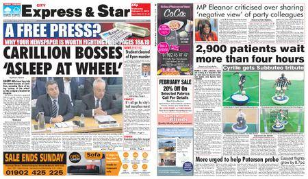 Express and Star City Edition – February 07, 2018