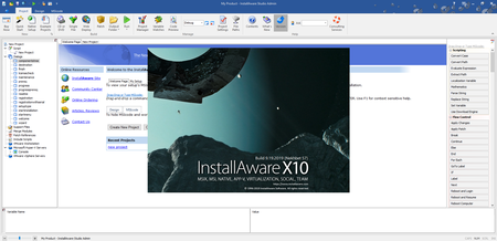 InstallAware Studio Admin X10 version 27.0.0.2019 Build 9.19.19