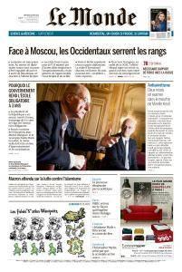 Le Monde du Mercredi 28 Mars 2018