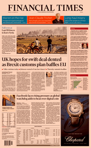 Financial Times Europe – 14 October 2019