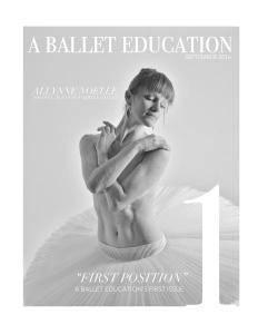 A Ballet Education - Issue 1 - September 2016