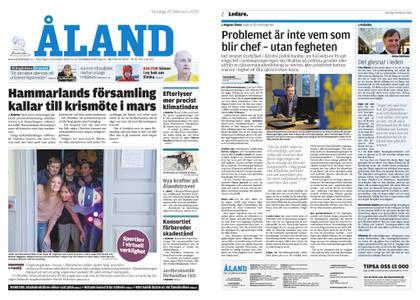 Ålandstidningen – 20 februari 2020