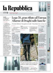 la Repubblica - 26 Ottobre 2018