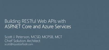 Building RESTful Web APIs with ASP.NET Core and Azure