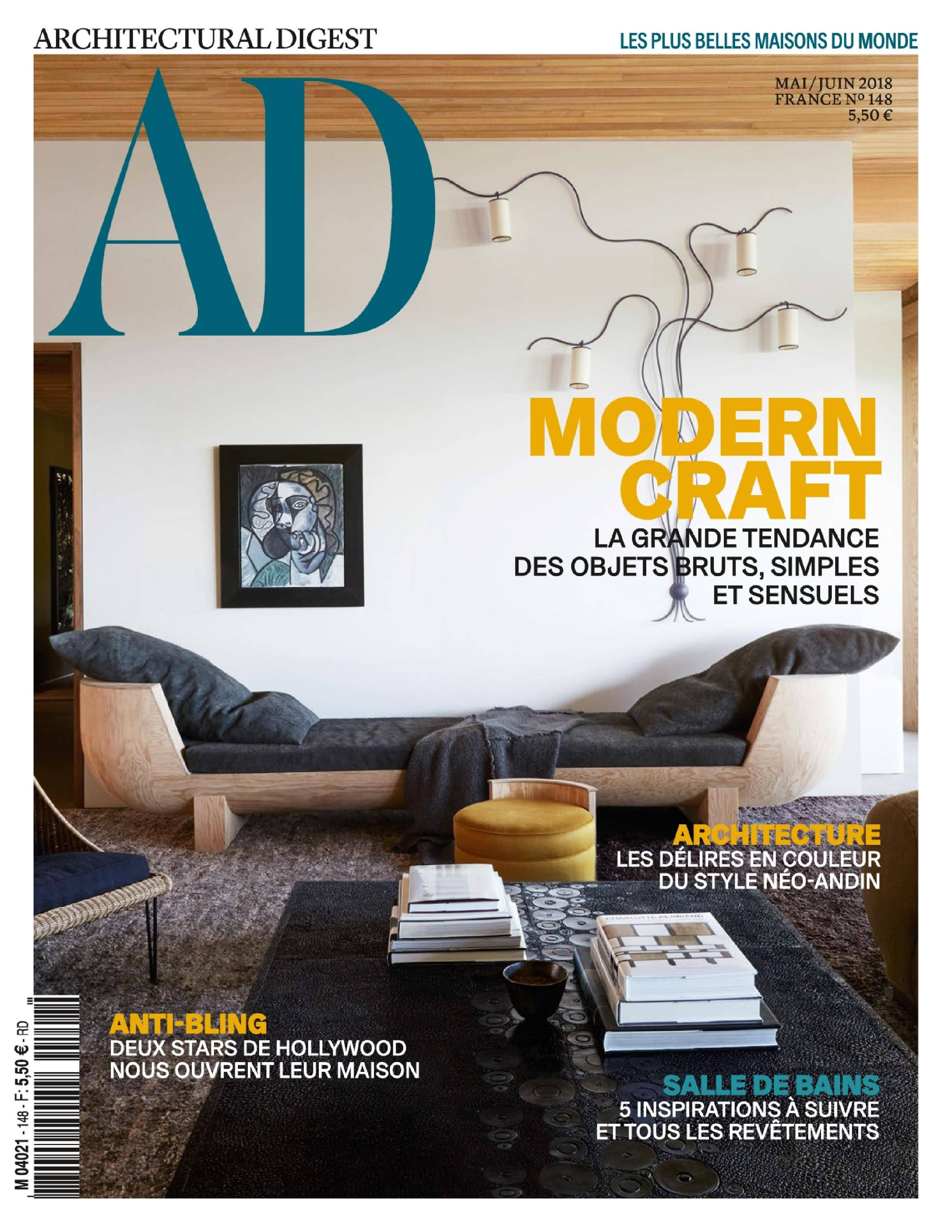 AD Architectural Digest France - mai 2018