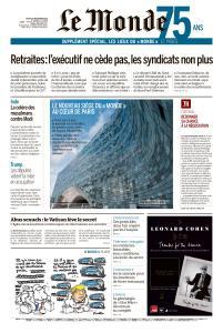 Le Monde du Jeudi 19 Décembre 2019