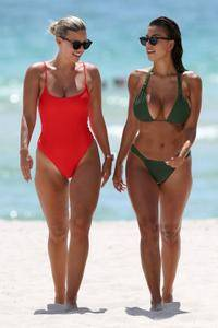 Natasha Oakley & Devin Brugman - Bikini Candids in Miami  July 20, 2017