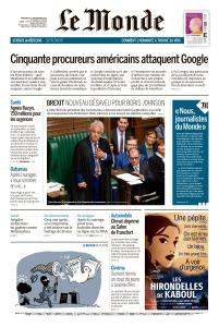 Le Monde du Mercredi 11 Septembre 2019