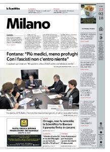 la Repubblica Milano - 22 Febbraio 2018