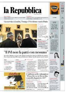 la Repubblica - 16 Marzo 2018