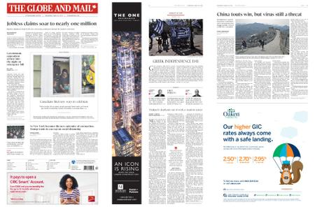 The Globe and Mail – March 25, 2020