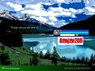 Lake Scene Logon Screen